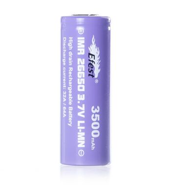 Efest IMR 26650 3500mAh 3.7V flat top battery